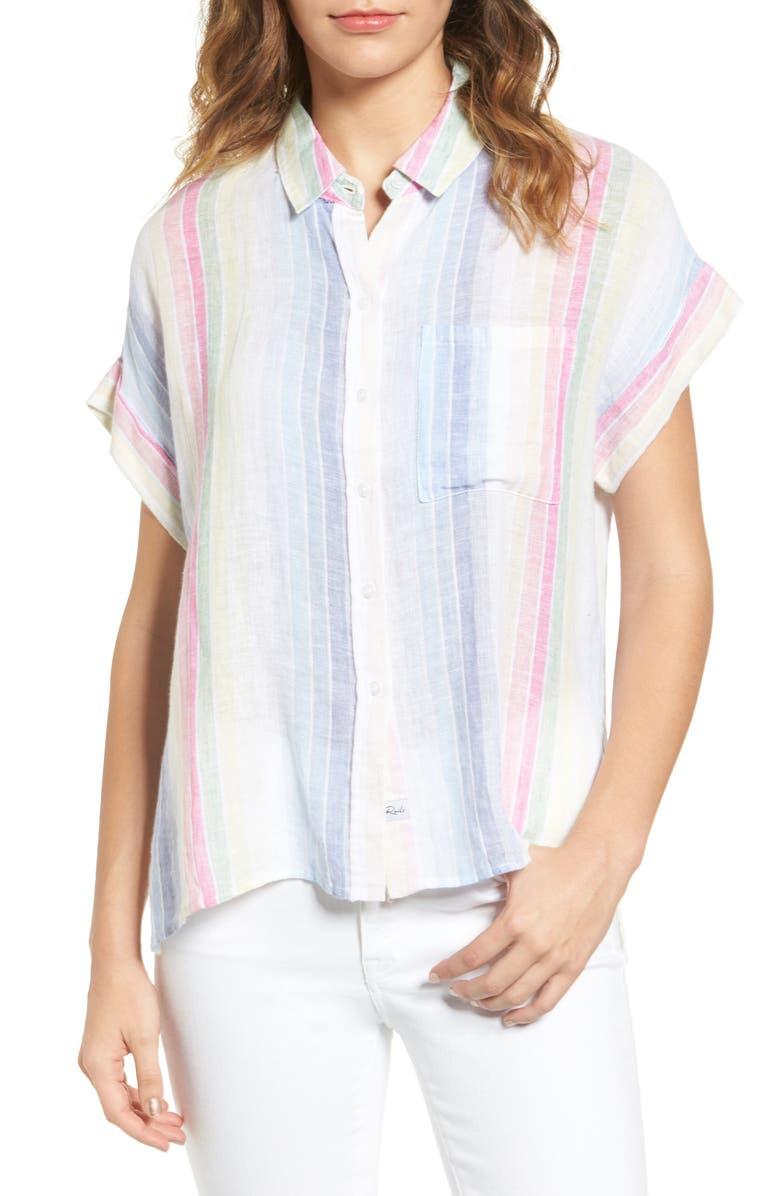 RAILS Whitney Linen Blend Shirt, Main, color, 162
