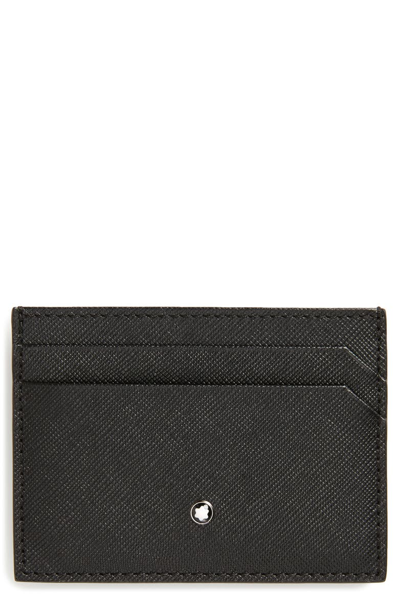 MONTBLANC Sartorial Leather Card Case, Main, color, 001