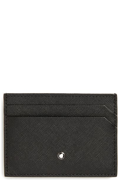Montblanc Sartorial Leather Card Case In Black