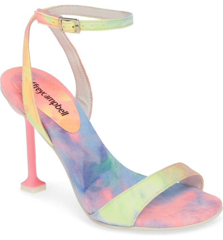 JEFFREY CAMPBELL Angelic Ankle Strap Sandal, Main, color, PINK BLUE TIE DYE