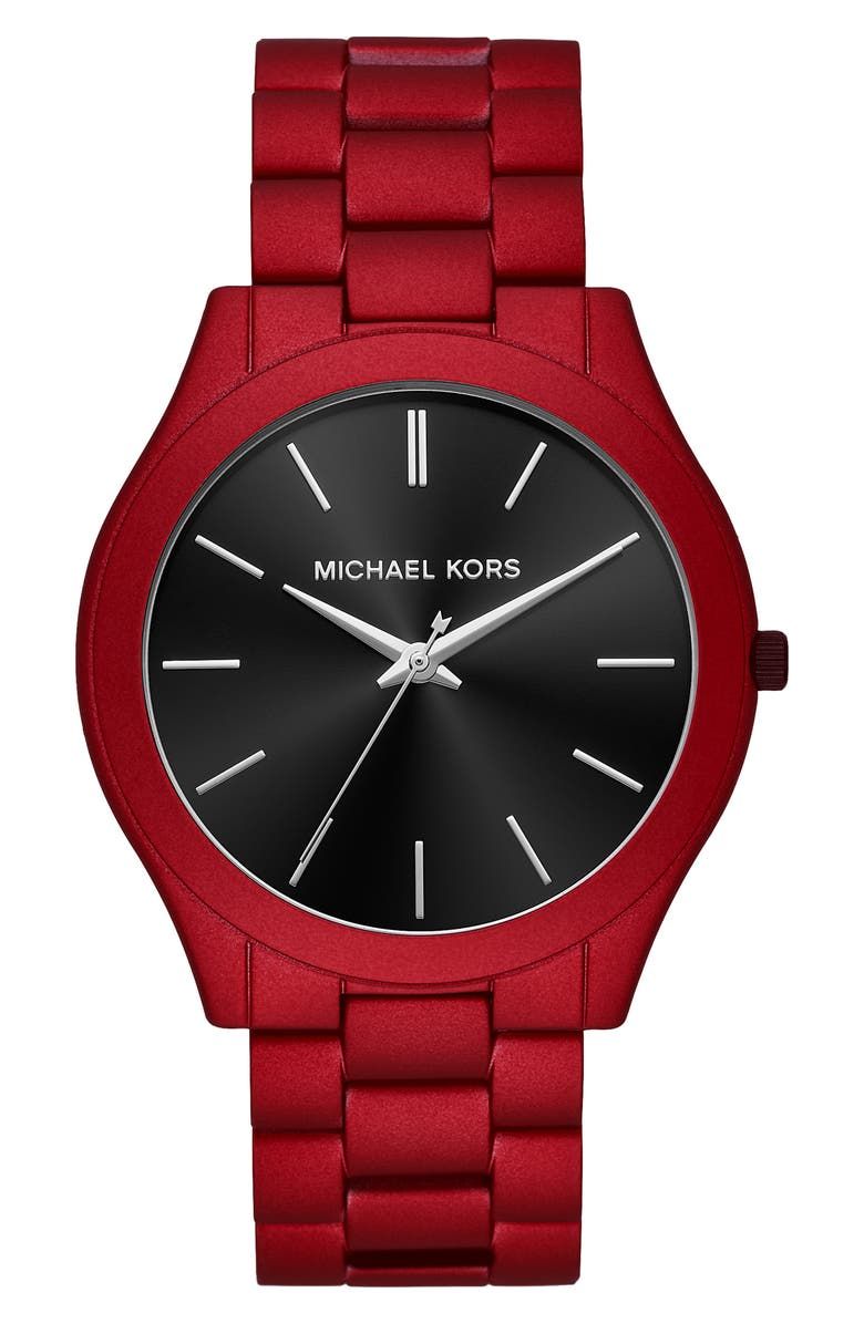 MICHAEL KORS Slim Runway Bracelet Watch, 44mm, Main, color, 600