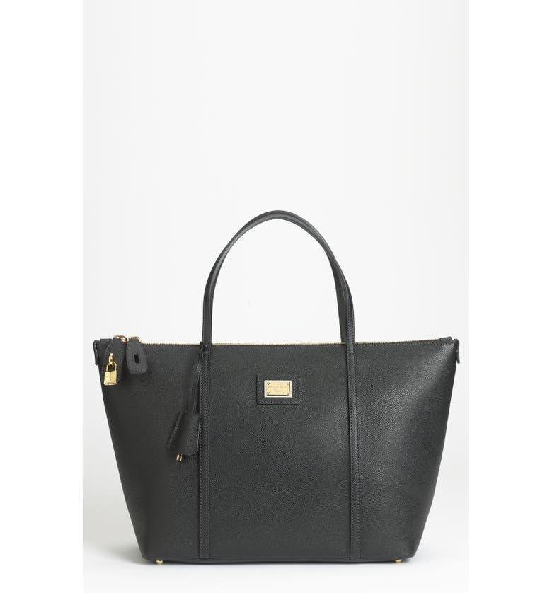 DOLCE&GABBANA 'Miss Escape - Classic' Leather Tote, Main, color, 001