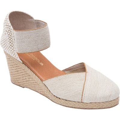 Andre Assous Anouka Espadrille Wedge, Beige