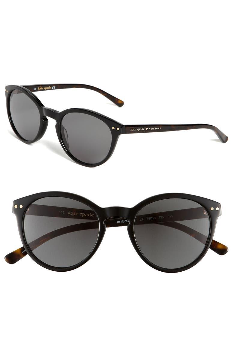 KATE SPADE NEW YORK retro sunglasses, Main, color, 001
