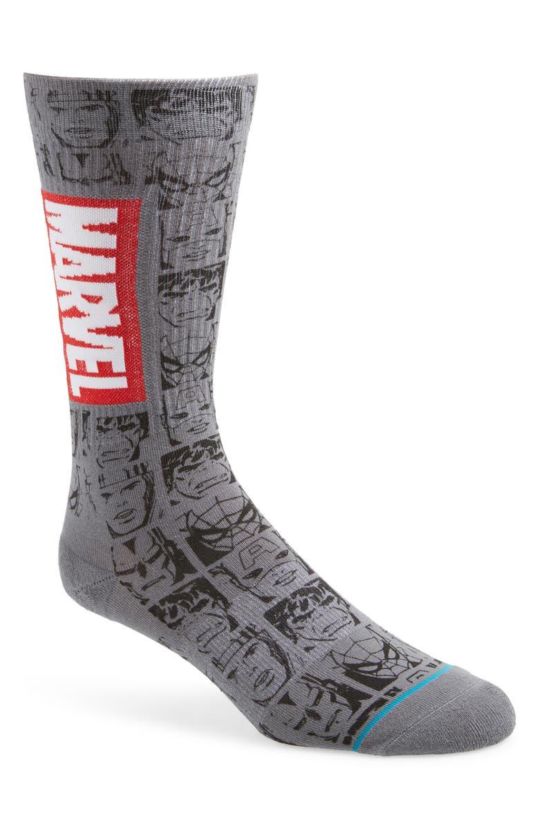 STANCE Marvel Icons Socks, Main, color, GREY