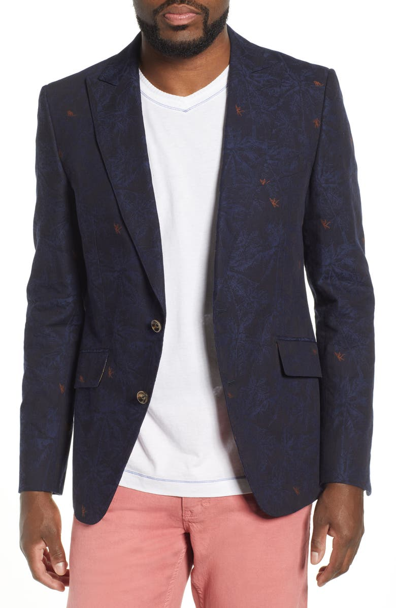 ROBERT GRAHAM Tamarin Jacquard Sport Coat, Main, color, NAVY