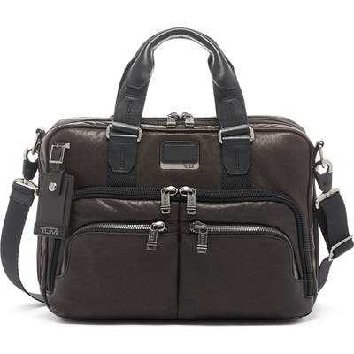 Tumi Alpha Bravo Albany Slim Commuter Briefcase - Brown
