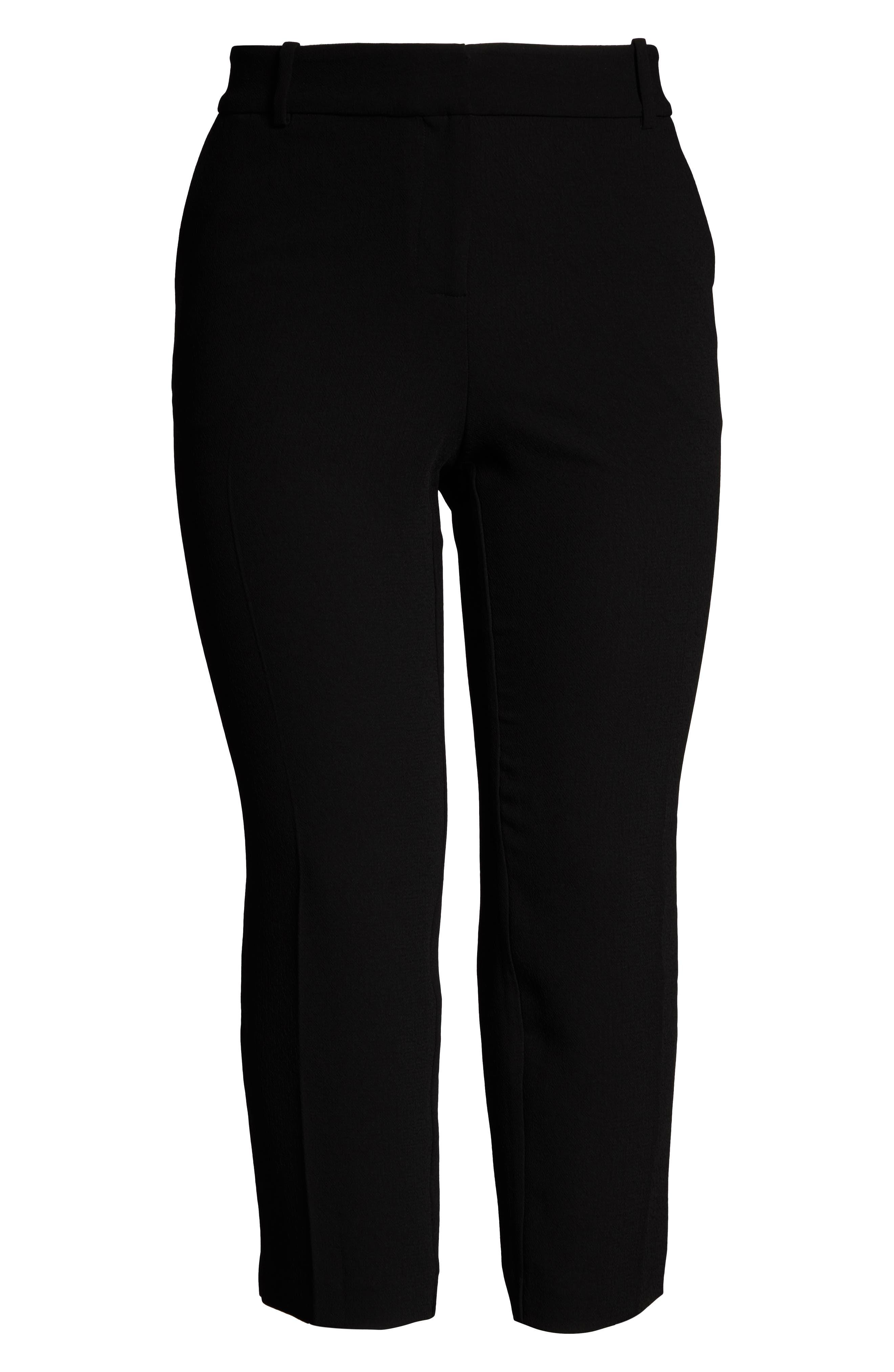 ,                             Parisian Crepe Trousers,                             Alternate thumbnail 7, color,                             RICH BLACK