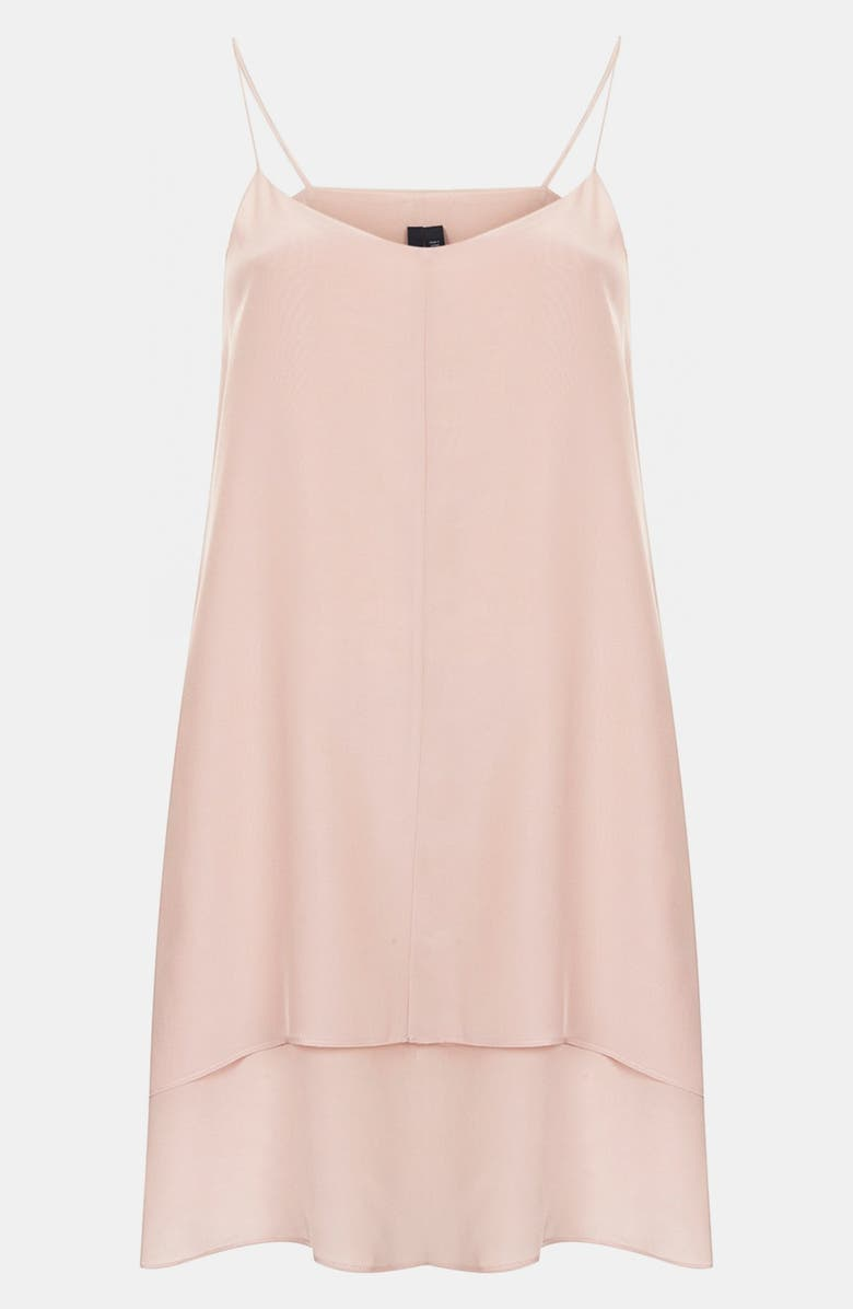 TOPSHOP Boutique Double Layer Silk Slipdress, Main, color, 680