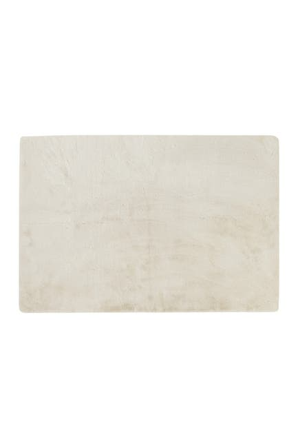 Image of LUXE Faux Fur Rectangular Throw 5' X 8' - Ivory
