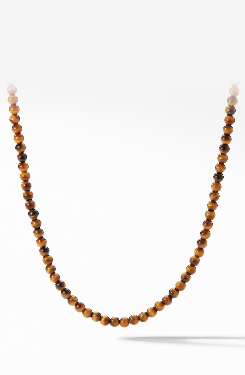 DAVID YURMAN Spiritual Beads Necklace, Main, color, TIGERS EYE