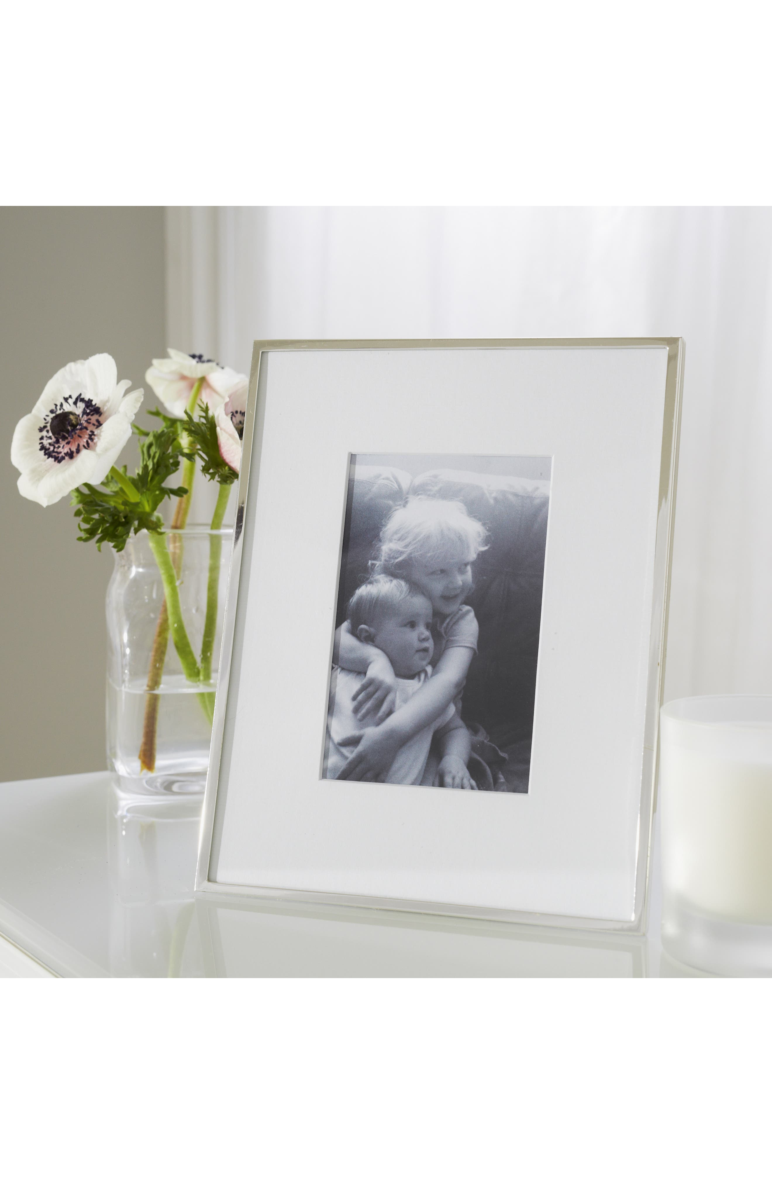 ,                             Fine Silver Plated Picture Frame,                             Alternate thumbnail 5, color,                             SILVER