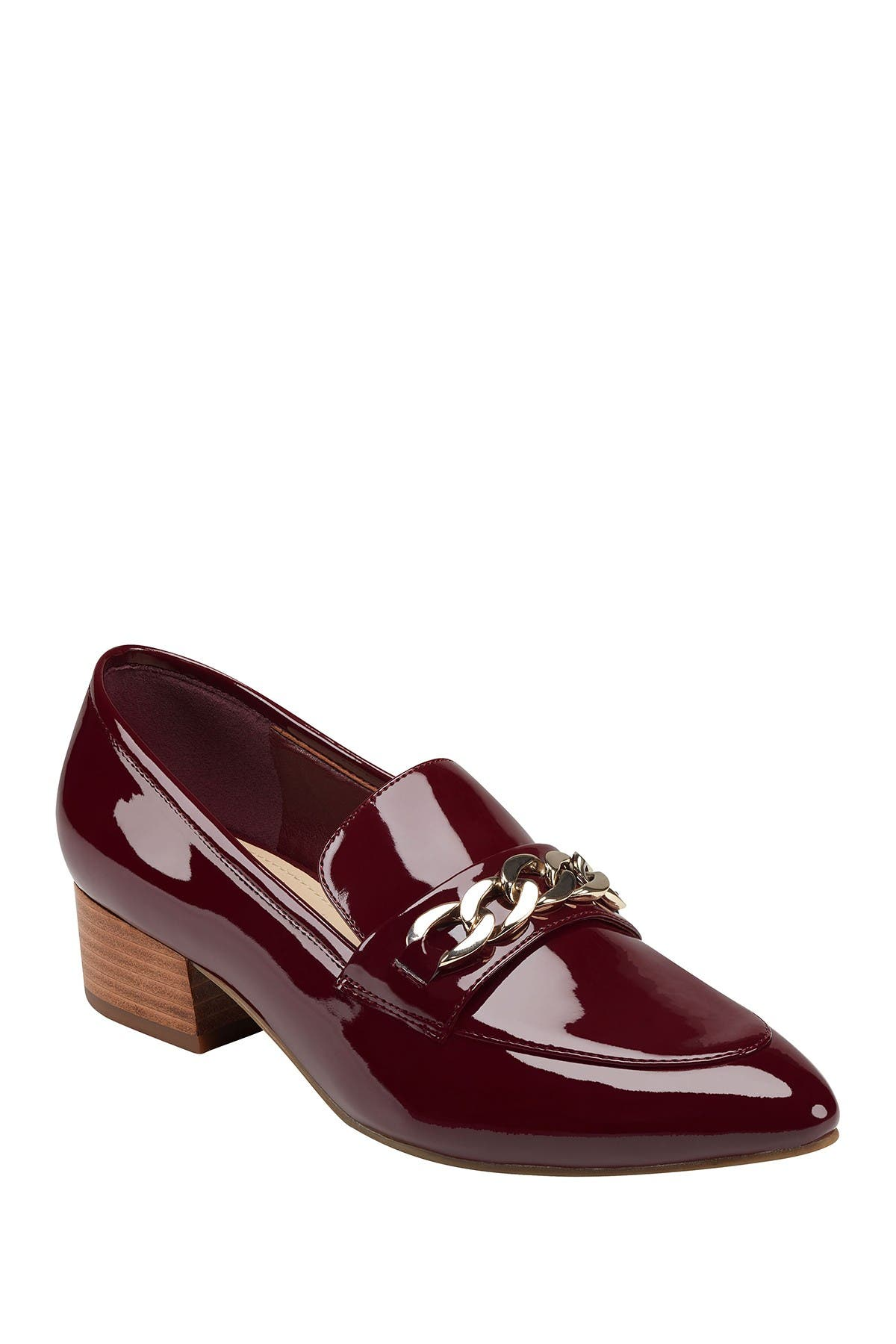 Image of Marc Fisher Chain Bit Heeled Loafer