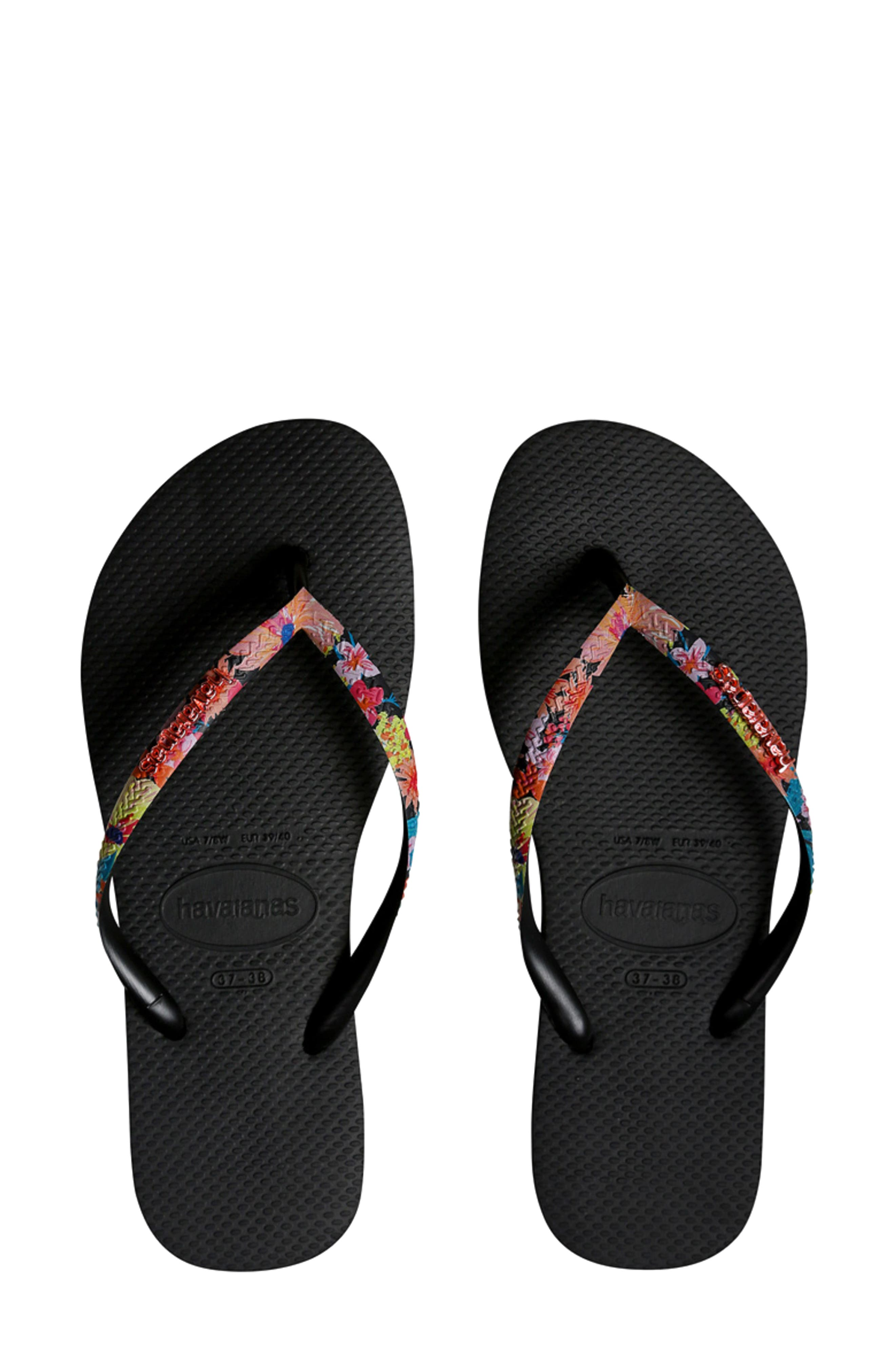 Slim Tropical Strap Flip Flop