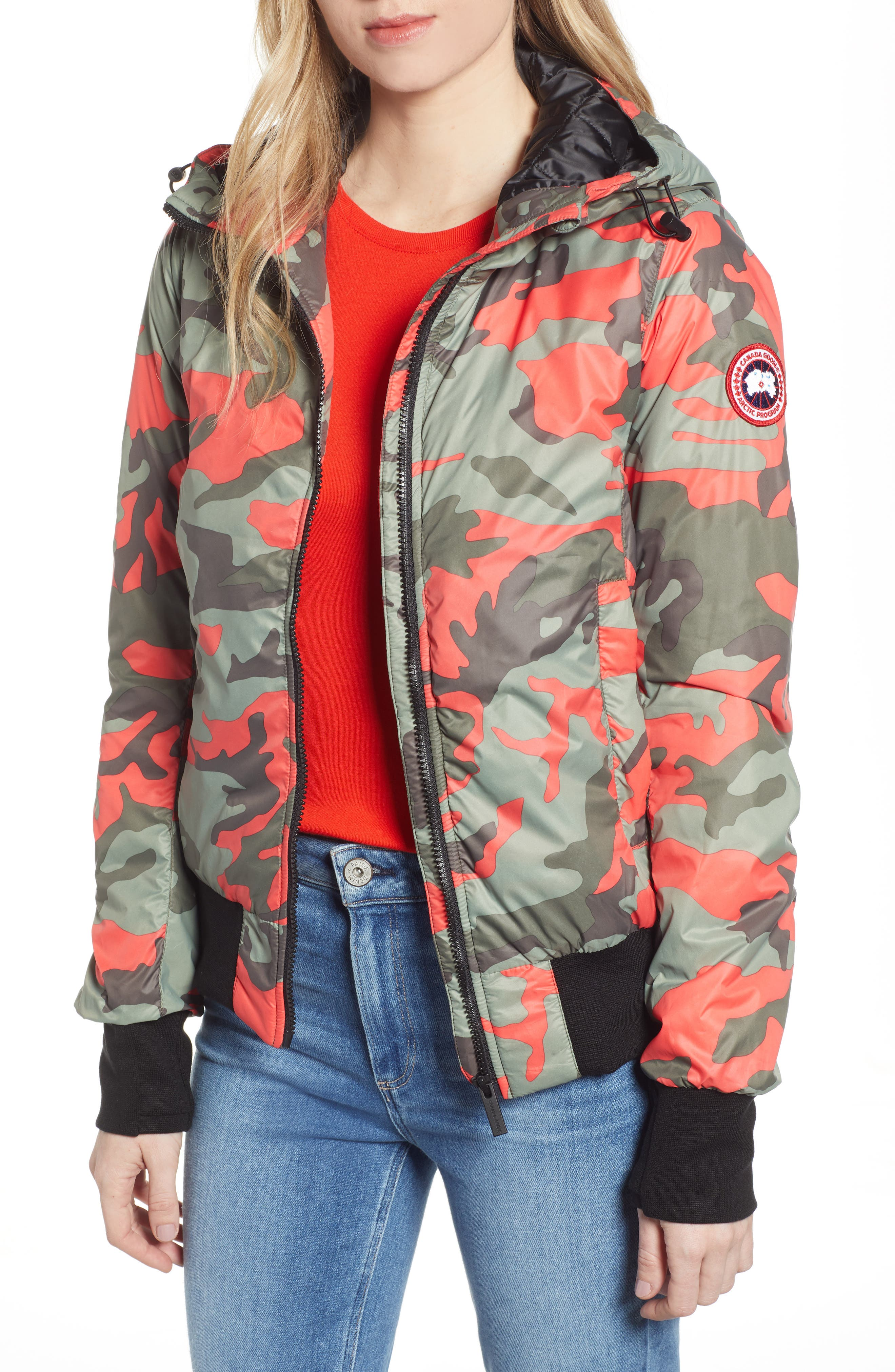 Canada Goose Dore Goose Down Hooded Jacket, (6-8) - Green