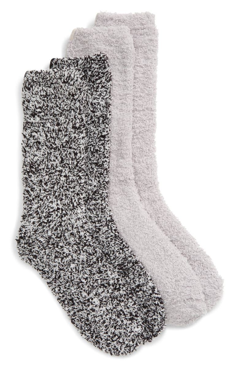BAREFOOT DREAMS<SUP>®</SUP> 2-Pack CozyChic<sup>™</sup> Socks, Main, color, 001