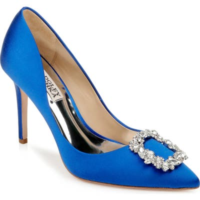 Badgley Mischka Cher Crystal Embellished Pump, Blue