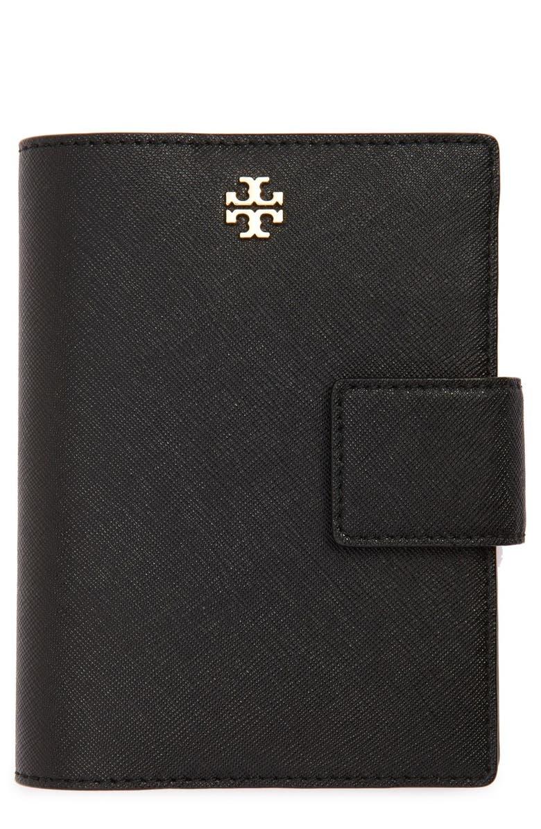 TORY BURCH 'Robinson' Passport Holder, Main, color, 001