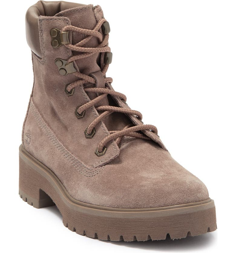 """TIMBERLAND Carnaby 6"""" Suede Boot, Main, color, TAUPE GRAY"""
