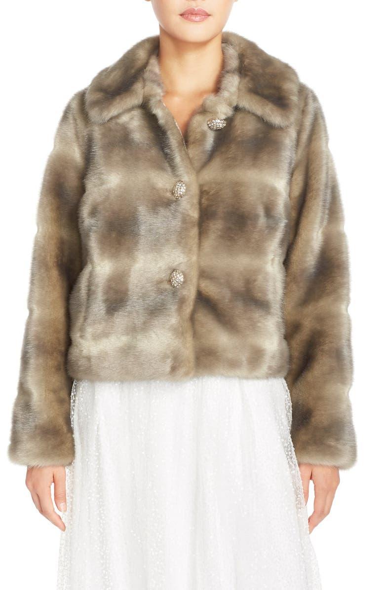 ELIZA J Faux Fur Jacket, Main, color, 031