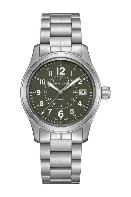 Image of Hamilton Men's Khaki Field Quartz Bracelet Watch, 38mm