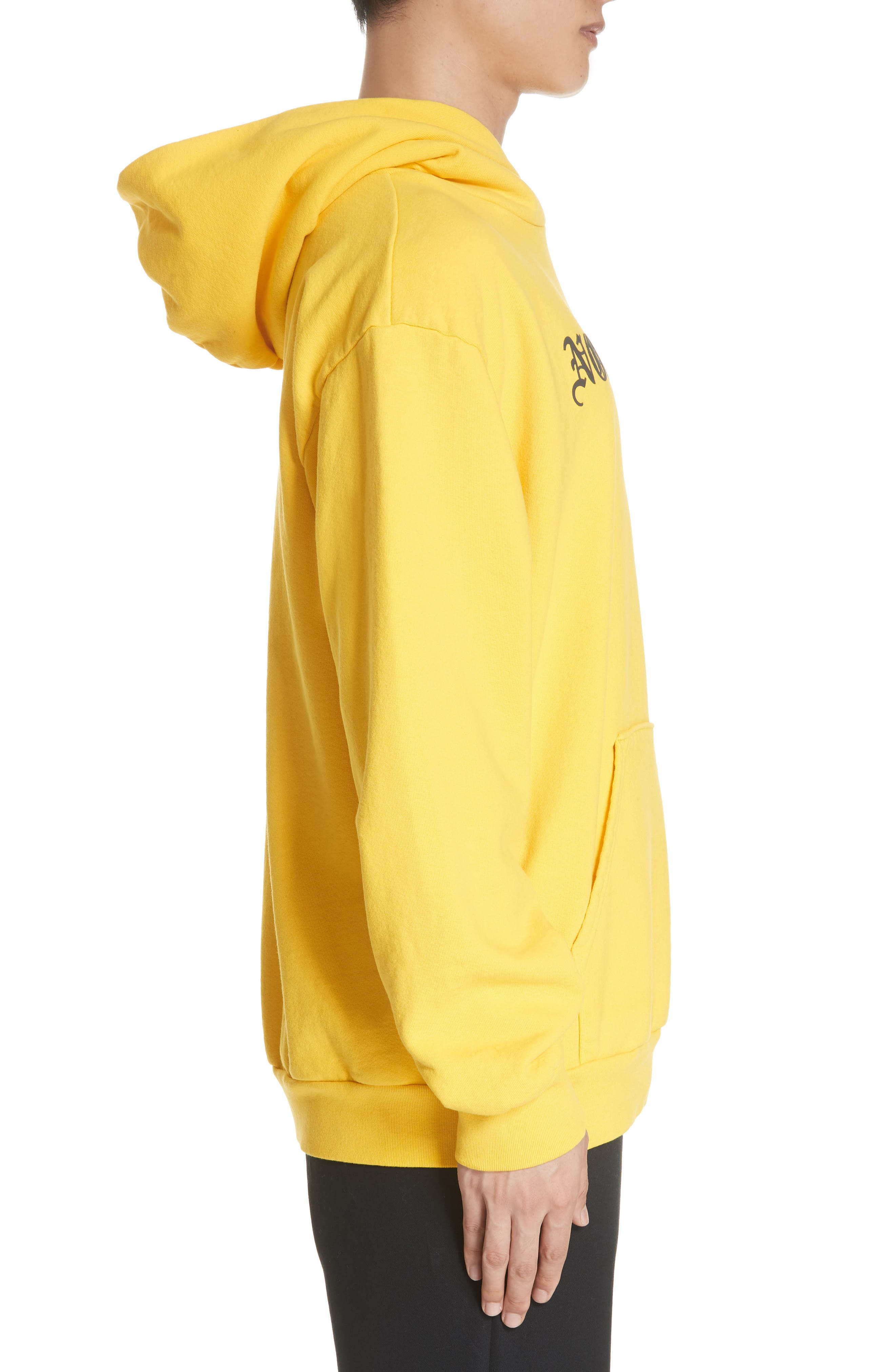 ,                             Old English Graphic Hoodie,                             Alternate thumbnail 3, color,                             GOLD