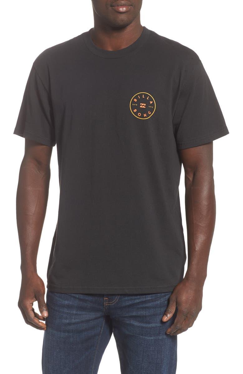 BILLABONG Rotor T-Shirt, Main, color, BLACK