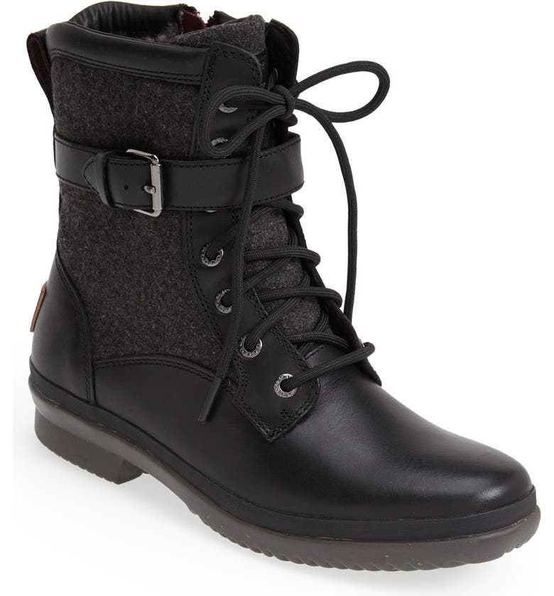 UGG<SUP>®</SUP> Kesey Waterproof Boot, Main, color, BLACK