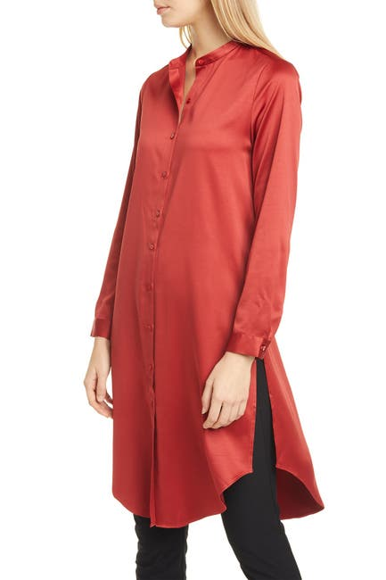 Image of Eileen Fisher Mandarin Collar Shirt