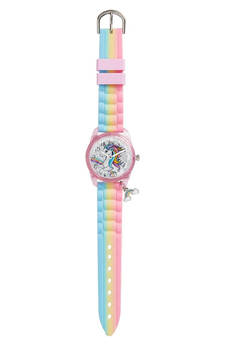 ACCUTIME Unicorn Multi Charm Watch, Main, color, 650