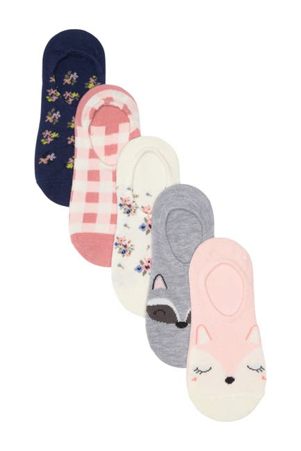 Image of Harper Canyon Foxy Friends Liner Socks - Pack of 5