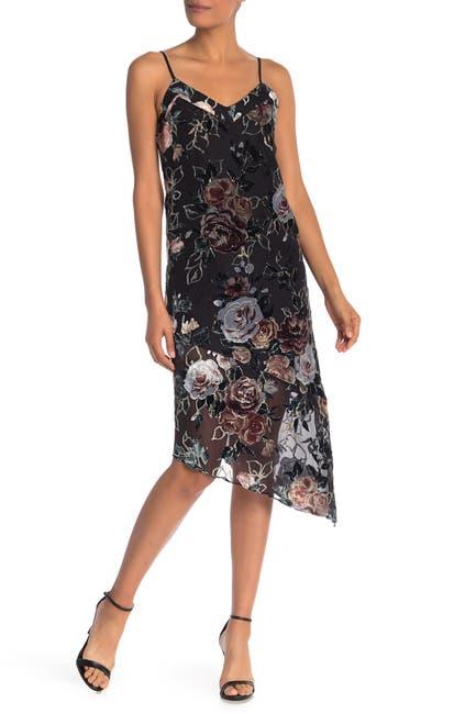 Image of NANETTE nanette lepore Velvet Floral Slip Dress