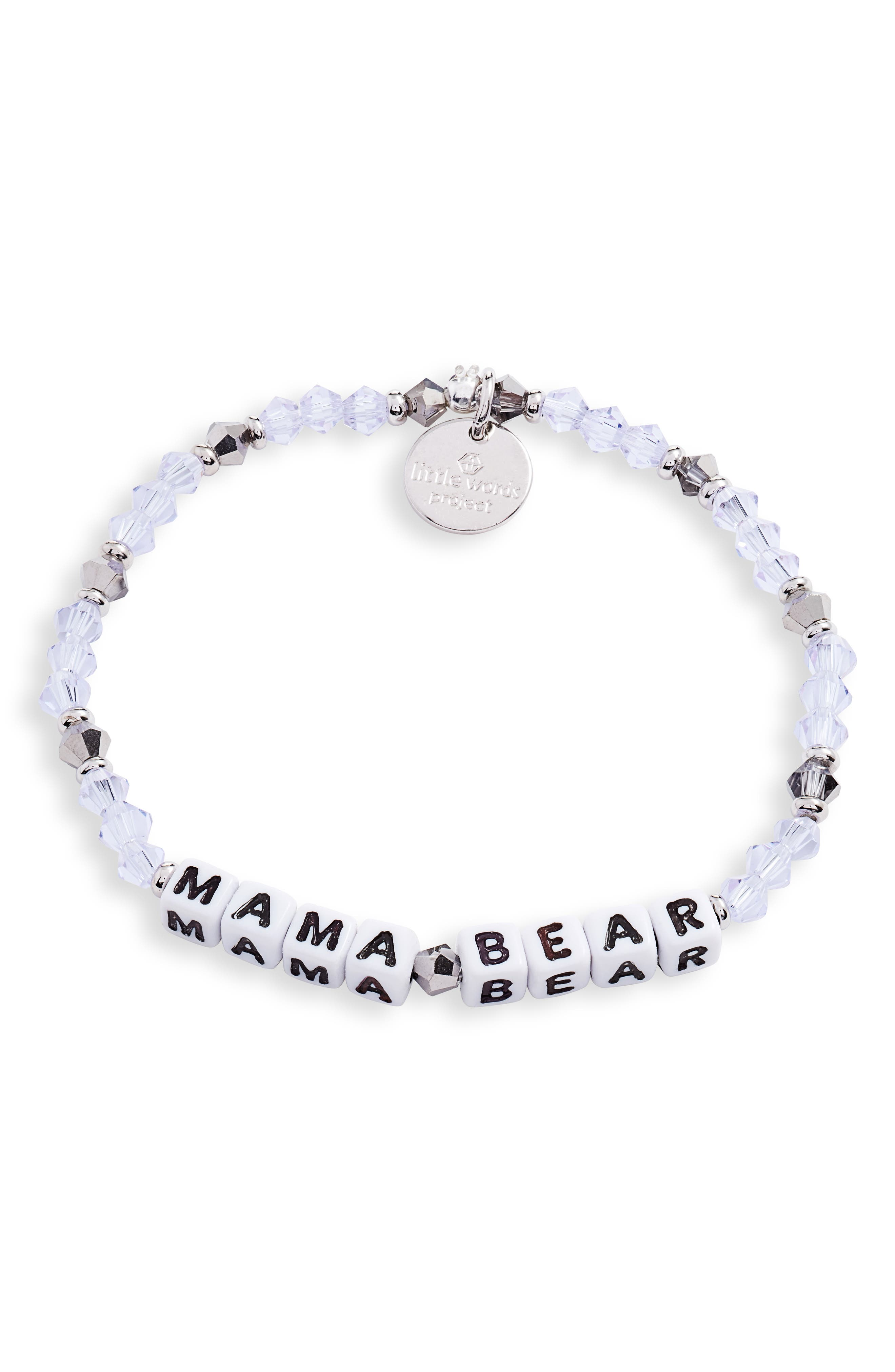 Mama Bear Beaded Stretch Bracelet
