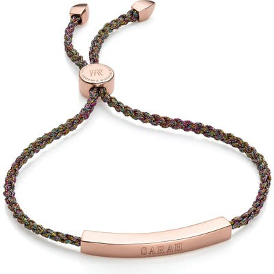 Monica Vinader Engravable Linear Friendship Bracelet