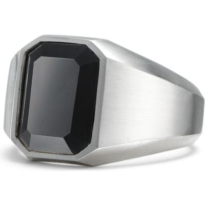 David Yurman Onyx Signet Ring In Sterling Silver