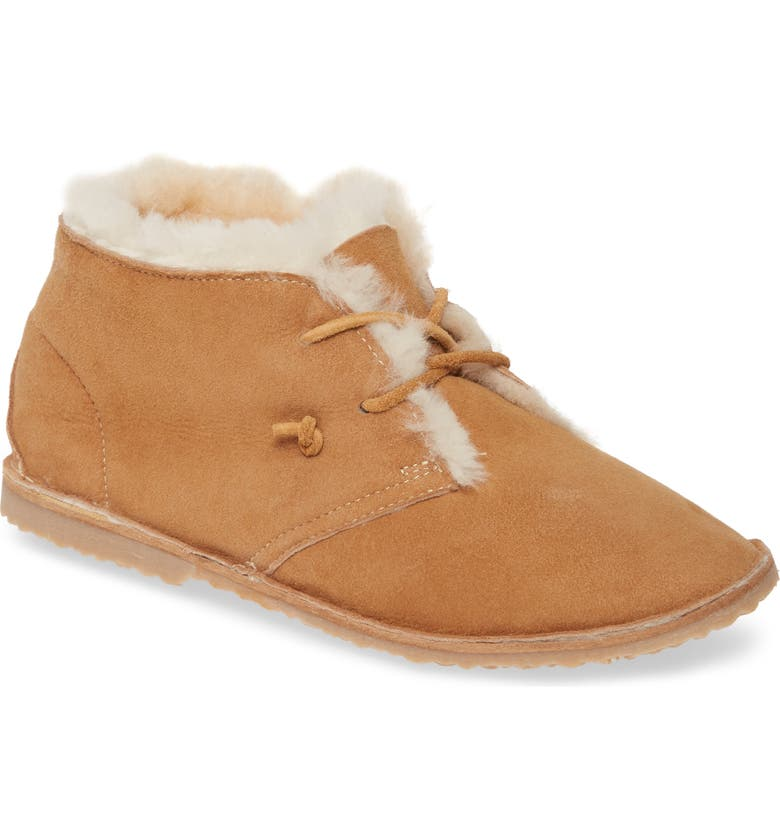 BEEK Penguin Genuine Shearling Lined Bootie, Main, color, SAND