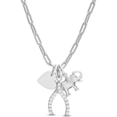Lesa Michele Wishbone Charm Necklace