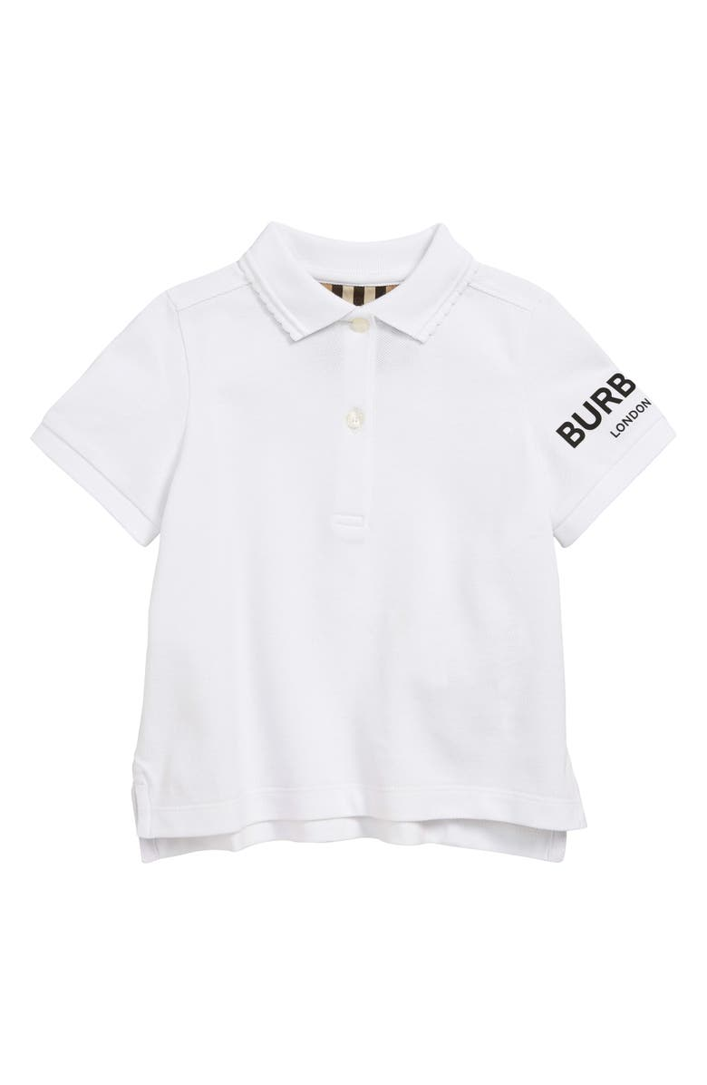 BURBERRY Rae Polo, Main, color, WHITE