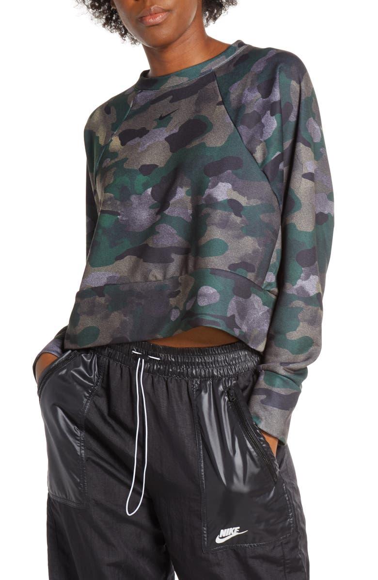 NIKE Rebel Dri-FIT Crewneck Pullover, Main, color, CLUB GOLD/ BLACK