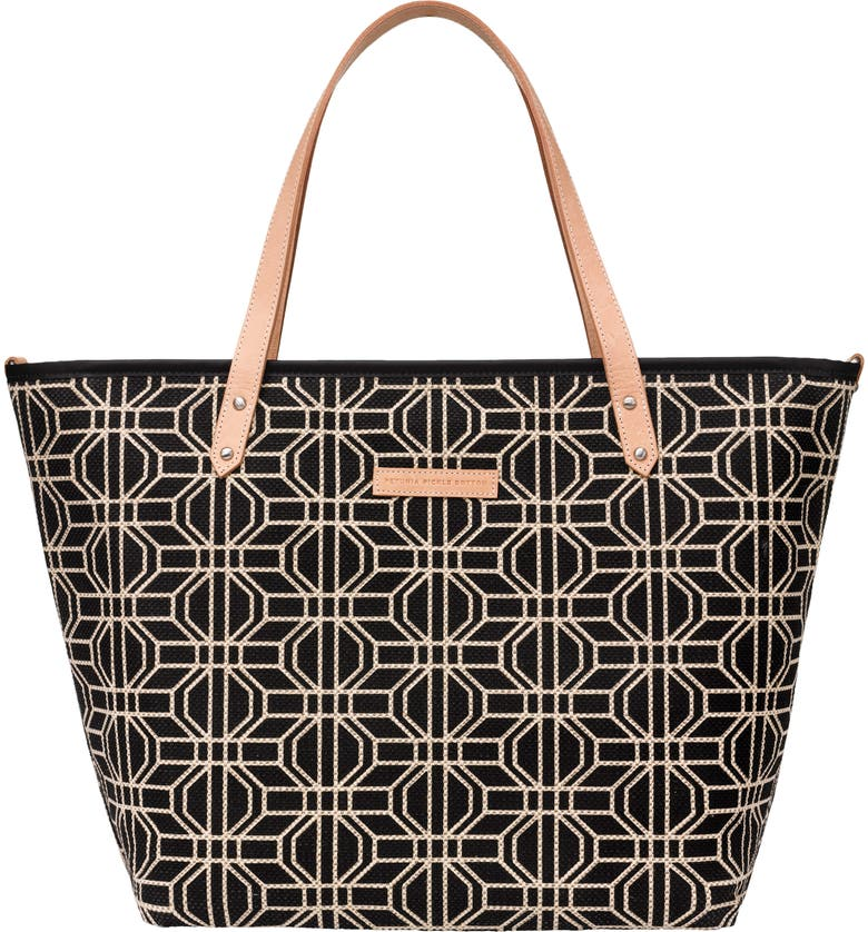 PETUNIA PICKLE BOTTOM 'Downtown' Glazed Canvas Tote, Main, color, 001