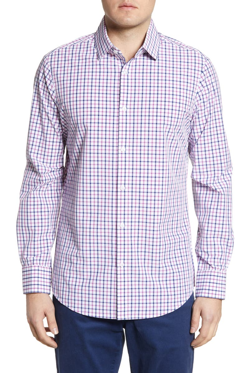 Mizzen Main Gulph Trim Fit Check Shirt