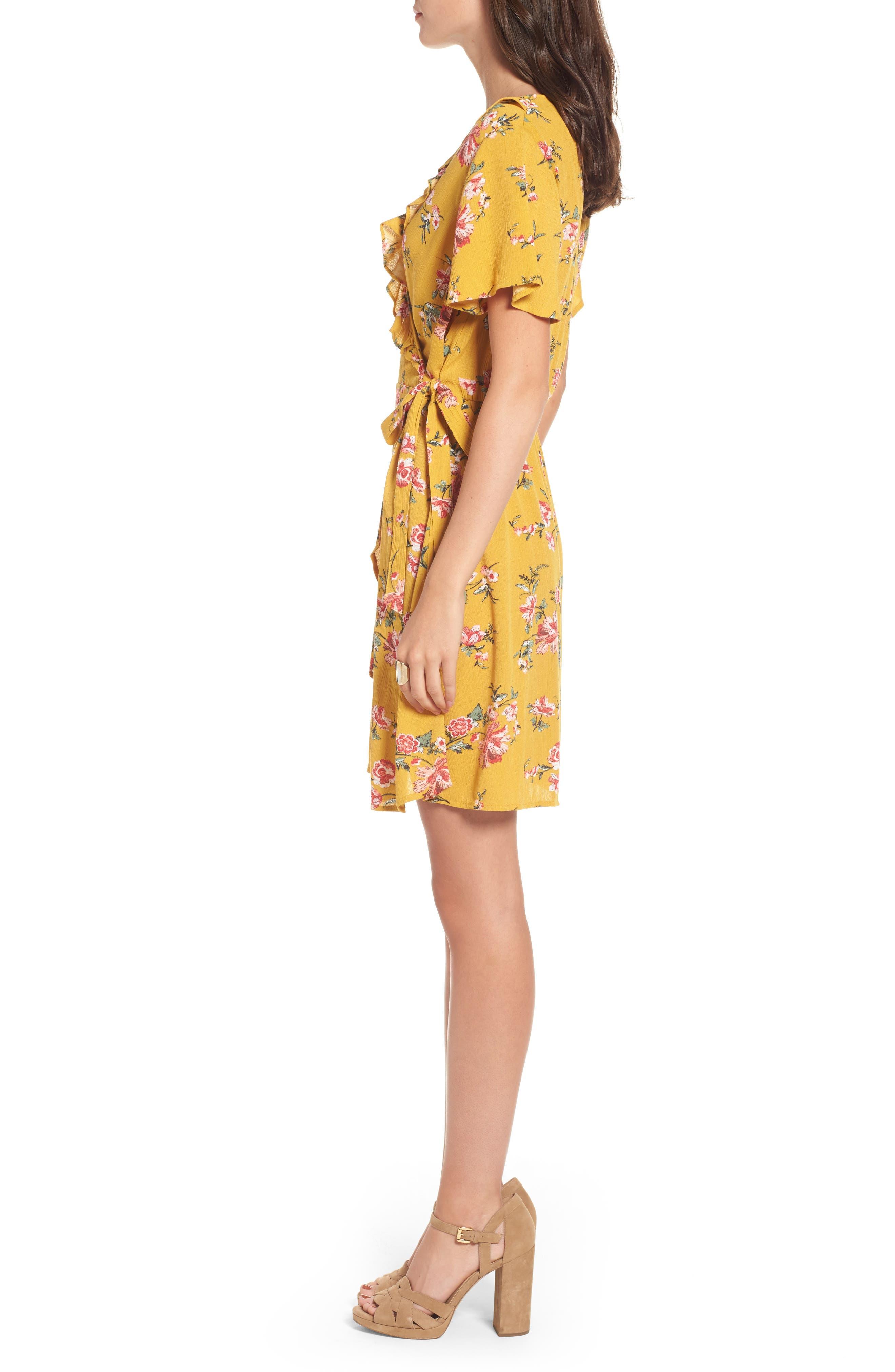 ,                             Floral Gauze Wrap Dress,                             Alternate thumbnail 9, color,                             752