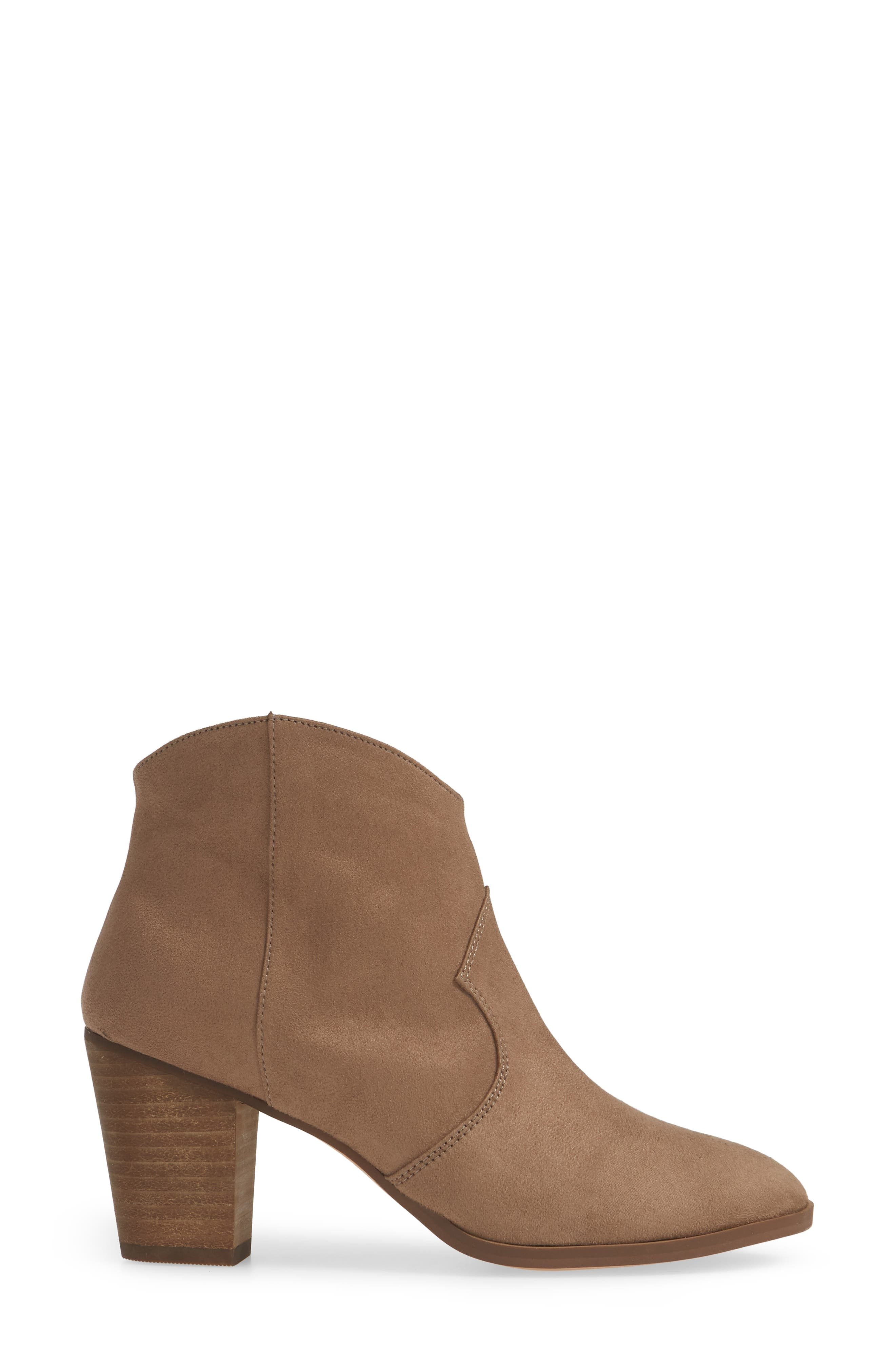 ,                             Nolly Bootie,                             Alternate thumbnail 3, color,                             TAUPE FAUX SUEDE