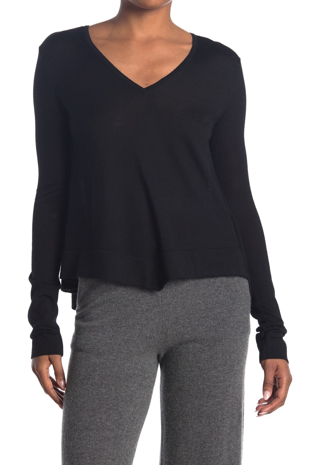 Image of DEREK LAM Ventura Wool Blend V-Neck Sweater