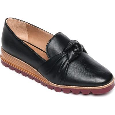 Bernardo Jansen Knot Platform Loafer- Black