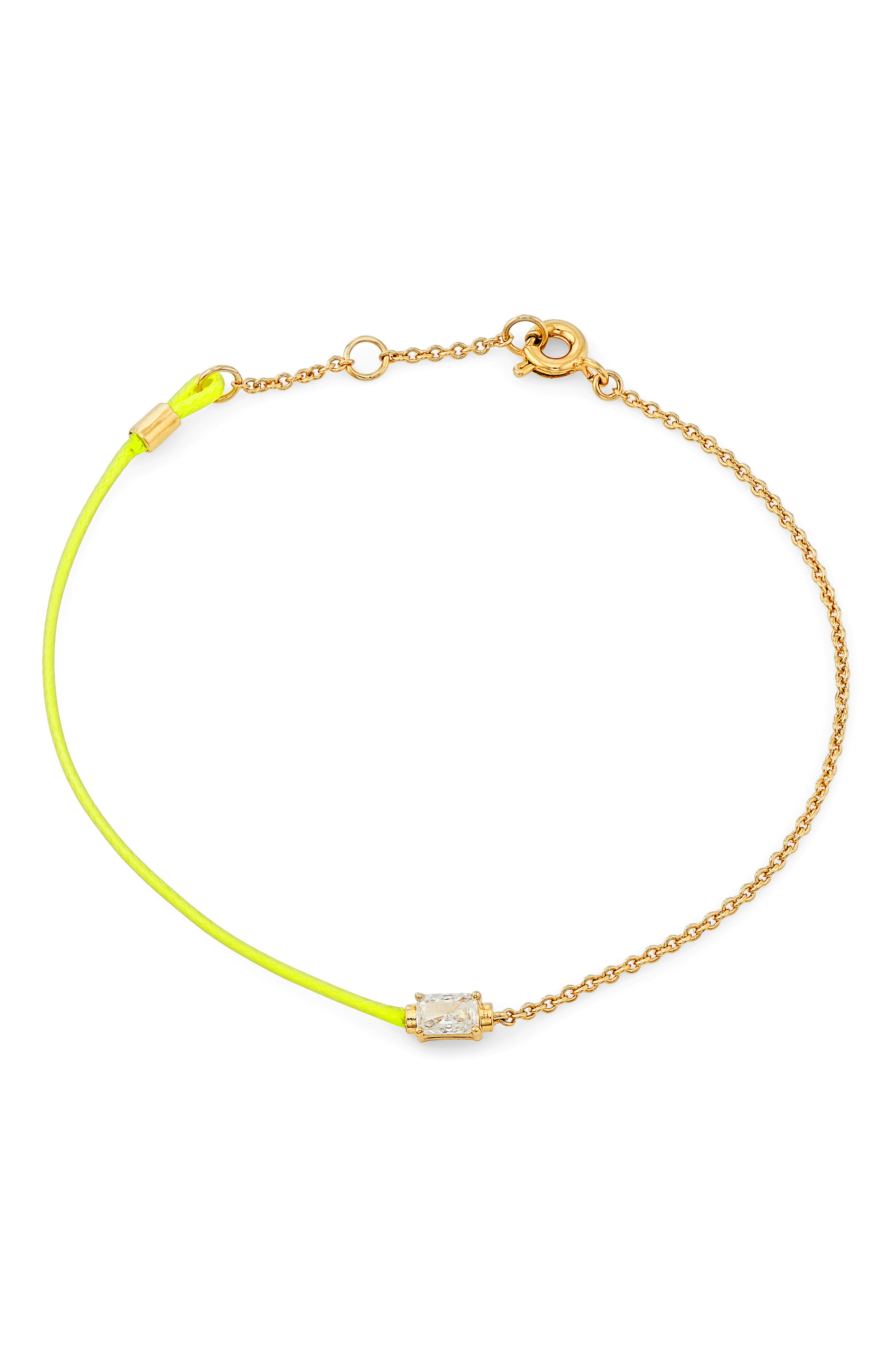 Cubic Zirconia Cord Bracelet