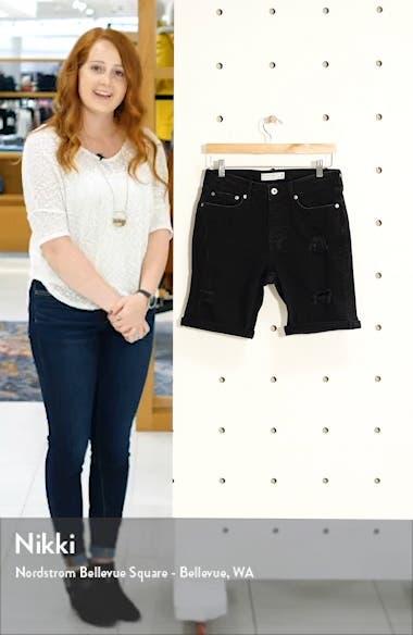 Ripped Skinny Fit Denim Shorts, sales video thumbnail