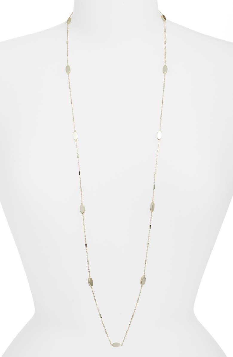 KENDRA SCOTT Franklin Long Strand Necklace, Main, color, GOLD
