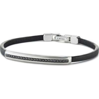 David Yurman Pave Leather Id Bracelet