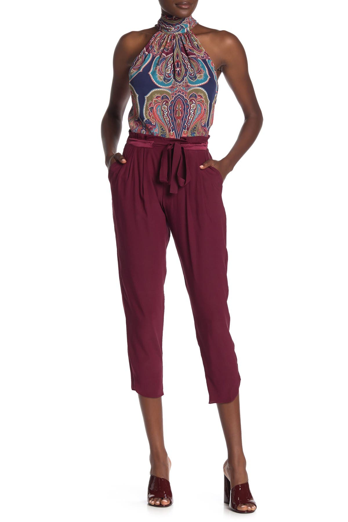 Image of Ramy Brook Allyn Silk Blend Cropped Pants